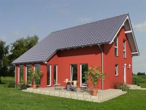 Bild: Aktionshaus mit Wintergarten Bauweise: Fertighaus, industrielle Vorfertigung Bauart: Holzhaus, Holztafelbau