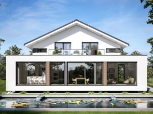 Bild: CONCEPT-M 210 Günzburg Bauweise: Fertighaus, industrielle Vorfertigung Bauart: Holzhaus, Holztafelbau