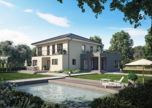 Bild: Solitaire-E-165 E7 Bauweise: Fertighaus, industrielle Vorfertigung Bauart: Holzhaus, Holztafelbau