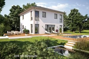 Bild: EOS 142 Bauweise: Fertighaus, industrielle Vorfertigung Bauart: Holzhaus, Fachwerk