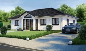 Bild: Bungalow Bauweise: Bau vor Ort, traditioneller Hausbau Bauart: Massivhaus, Ziegelsteine