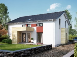 Bild: SOLUTION 204 V4 L Bauweise: Fertighaus, industrielle Vorfertigung Bauart: Holzhaus, Holztafelbau