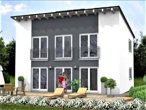Bild: Landhaus Haus 3 Pultdach Bauweise: Bau vor Ort, traditioneller Hausbau Bauart: Massivhaus, Porenbetonsteine