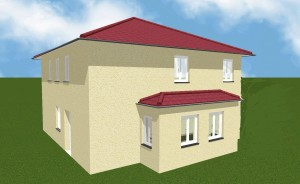 Bild: Stadtvilla mit Keller  Bauweise: Bau vor Ort, traditioneller Hausbau Bauart: Massivhaus, Porenbetonsteine