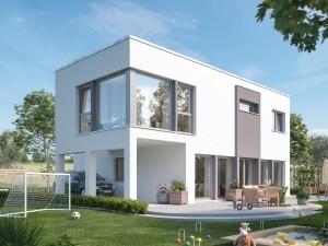 Bild: SUNSHINE 154 V7 Bauweise: Fertighaus, industrielle Vorfertigung Bauart: Holzhaus, Holztafelbau
