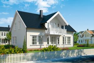 Bild: NORGES HUS 202 - Bausatz ab 93.600.-- € ... Bauweise: Fertighaus, industrielle Vorfertigung Bauart: Holzhaus, Holzständerwerk