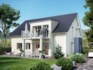 Bild: SOLUTION 204 V3 L Bauweise: Fertighaus, industrielle Vorfertigung Bauart: Holzhaus, Holztafelbau