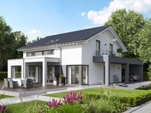 Bild: EVOLUTION 161 V4 Bauweise: Fertighaus, industrielle Vorfertigung Bauart: Holzhaus, Holztafelbau