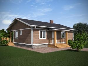 Bild: NORGES HUS 86/1 - Bausatz ab 47.200.-- €... Bauweise: Fertighaus, industrielle Vorfertigung Bauart: Holzhaus, Holzständerwerk