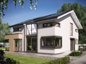 Bild: CONCEPT-M 153 Stuttgart Bauweise: Fertighaus, industrielle Vorfertigung Bauart: Holzhaus, Holztafelbau