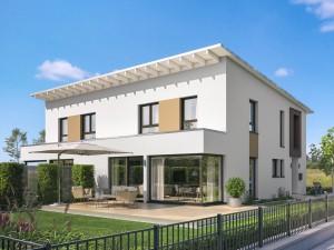 Bild: CELEBRATION 139 V4 L Bauweise: Fertighaus, industrielle Vorfertigung Bauart: Holzhaus, Holztafelbau