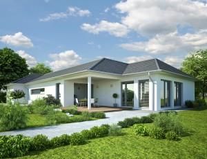 Bild: Bungalow-MV 03 Bauweise: Bau vor Ort, traditioneller Hausbau Bauart: Holzhaus, Fachwerk