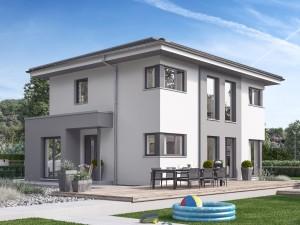 Bild: SUNSHINE 125 V6 Bauweise: Fertighaus, industrielle Vorfertigung Bauart: Holzhaus, Holztafelbau