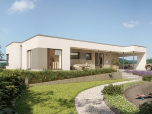 Bild: SOLUTION 101 V4 Bauweise: Fertighaus, industrielle Vorfertigung Bauart: Holzhaus, Holztafelbau