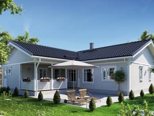Bild: NORGES HUS 141 - Bausatz ab 65.700.-- € ... Bauweise: Fertighaus, industrielle Vorfertigung Bauart: Holzhaus, Holzständerwerk