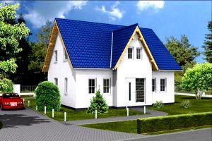 Bild: Giebelhaus 139 Bauweise: Fertighaus, industrielle Vorfertigung Bauart: Massivhaus, Porenbetonsteine
