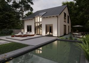 Bild: Satteldach Haus Oberlahr 70-035 Bauweise: Bau vor Ort, traditioneller Hausbau Bauart: Massivhaus, Porenbetonsteine