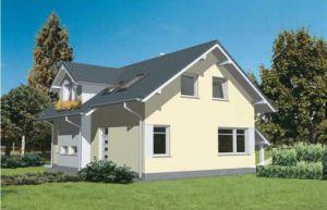 Bild: S 119 E Bauweise: Fertighaus, industrielle Vorfertigung Bauart: Massivhaus, Porenbetonsteine