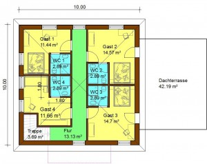 Bild: Stadtvilla mit Keller, Garage und Terrasse Bauweise: Bau vor Ort, traditioneller Hausbau Bauart: Massivhaus, Porenbetonsteine