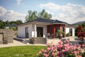 Bild: ONE 116 Bauweise: Fertighaus, industrielle Vorfertigung Bauart: Holzhaus, Fachwerk
