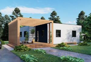 Bild: NORGES HUS 102 - Bausatz ab 50.100.-- € ... Bauweise: Fertighaus, industrielle Vorfertigung Bauart: Holzhaus, Holzständerwerk