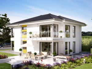Bild: SOLUTION 204 V6 L Bauweise: Fertighaus, industrielle Vorfertigung Bauart: Holzhaus, Holztafelbau