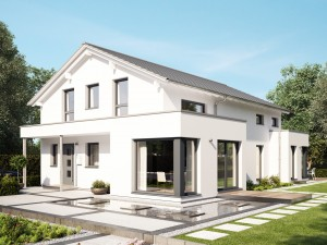 Bild: CELEBRATION 192 V3 Bauweise: Fertighaus, industrielle Vorfertigung Bauart: Holzhaus, Holztafelbau