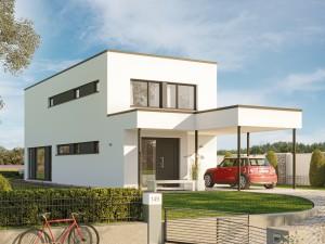 Bild: BALANCE 145 V3 Bauweise: Fertighaus, industrielle Vorfertigung Bauart: Holzhaus, Holztafelbau