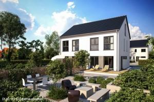 Bild: DUO 132 Bauweise: Fertighaus, industrielle Vorfertigung Bauart: Holzhaus, Fachwerk