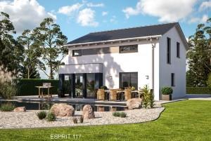 Bild: ES 117 Bauweise: Fertighaus, industrielle Vorfertigung Bauart: Holzhaus, Fachwerk