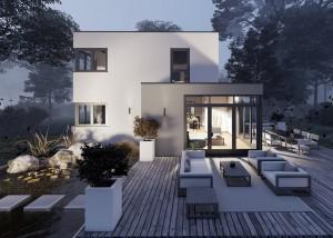 Bild: Bauhaus Heuzert 10-014 Bauweise: Bau vor Ort, traditioneller Hausbau Bauart: Massivhaus, Porenbetonsteine