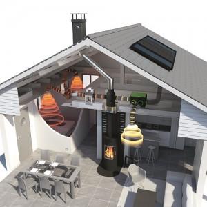 Moderne Warmluftheizungen