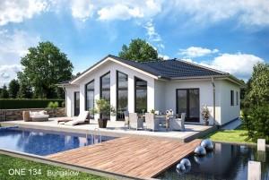 Bild: ONE 134 Bauweise: Fertighaus, industrielle Vorfertigung Bauart: Holzhaus, Fachwerk