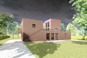 Bild: Geschwisterhaus 02 Bauweise: Bau vor Ort, traditioneller Hausbau Bauart: Massivhaus, Ziegelsteine