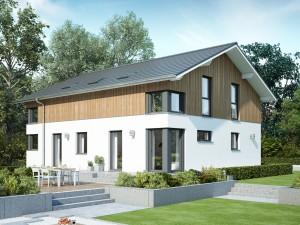 Bild: CELEBRATION 207 V6 Bauweise: Fertighaus, industrielle Vorfertigung Bauart: Holzhaus, Holztafelbau
