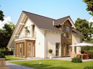 Bild: SUNSHINE 113 V3 Bauweise: Fertighaus, industrielle Vorfertigung Bauart: Holzhaus, Holztafelbau