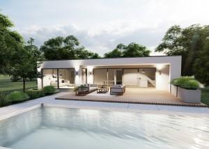 Bild: Bungalow Marienrachdorf 20-032 Bauweise: Bau vor Ort, traditioneller Hausbau Bauart: Holzhaus, Fachwerk