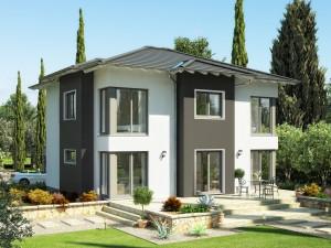 Bild: EVOLUTION 165 V4 Bauweise: Fertighaus, industrielle Vorfertigung Bauart: Holzhaus, Holztafelbau