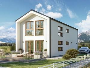 Bild: BALANCE 131 V2 Bauweise: Fertighaus, industrielle Vorfertigung Bauart: Holzhaus, Holztafelbau