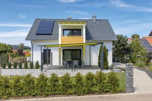 Bild: Haus Echterkamp Bauweise: Bau vor Ort, traditioneller Hausbau Bauart: Massivhaus, Beton + WDVS