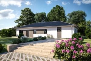 Bild: ONE 158 Bauweise: Fertighaus, industrielle Vorfertigung Bauart: Holzhaus, Fachwerk
