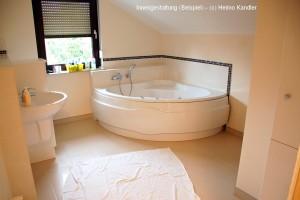 Bild: INNENAUSBAU BÄDER bei BÄRENHAUS  Bauweise: Fertighaus, industrielle Vorfertigung Bauart: Holzhaus, Fachwerk