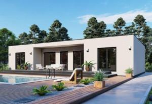 Bild: NORGES HUS 144 - Bausatz ab 73.400.-- € ... Bauweise: Fertighaus, industrielle Vorfertigung Bauart: Holzhaus, Holzständerwerk