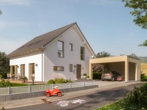 Bild: SUNSHINE 167 V3 Bauweise: Fertighaus, industrielle Vorfertigung Bauart: Holzhaus, Holztafelbau