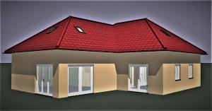 Bild: Winkelbungalow Var. 2  Bauweise: Bau vor Ort, traditioneller Hausbau Bauart: Massivhaus, Porenbetonsteine