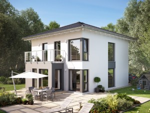 Bild: SUNSHINE 136 V7 Bauweise: Fertighaus, industrielle Vorfertigung Bauart: Holzhaus, Holztafelbau