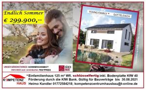Aktionshaus Sommer 2021 als Effizienzhaus 40 - schlüsselfertig inkl. Bodenplatte - nur € 299.900,--