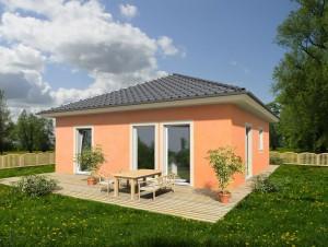 Bild: Bungalow Parto 70 Bauweise: Fertighaus, industrielle Vorfertigung Bauart: Holzhaus, Holztafelbau