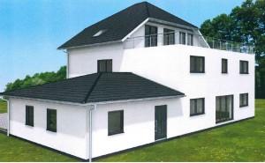 Bild: Landhausvilla Haus 1 (3 Etagen) Bauweise: Bau vor Ort, traditioneller Hausbau Bauart: Massivhaus, Porenbetonsteine