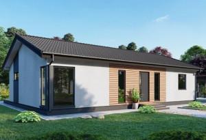 Bild: NORGES HUS 115 - Bausatz ab 55.900.-- € ... Bauweise: Fertighaus, industrielle Vorfertigung Bauart: Holzhaus, Holzständerwerk
